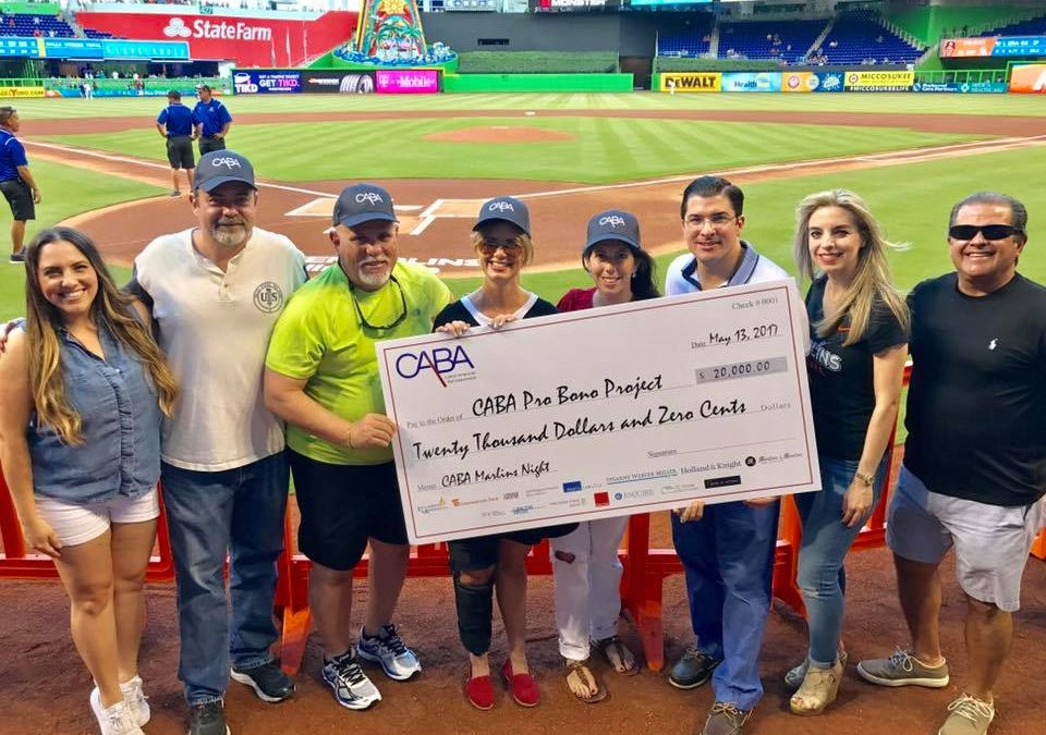 CABA'S NIGHT WITH THE MARLINS RAISES $20,000 FOR CABA PRO BONO