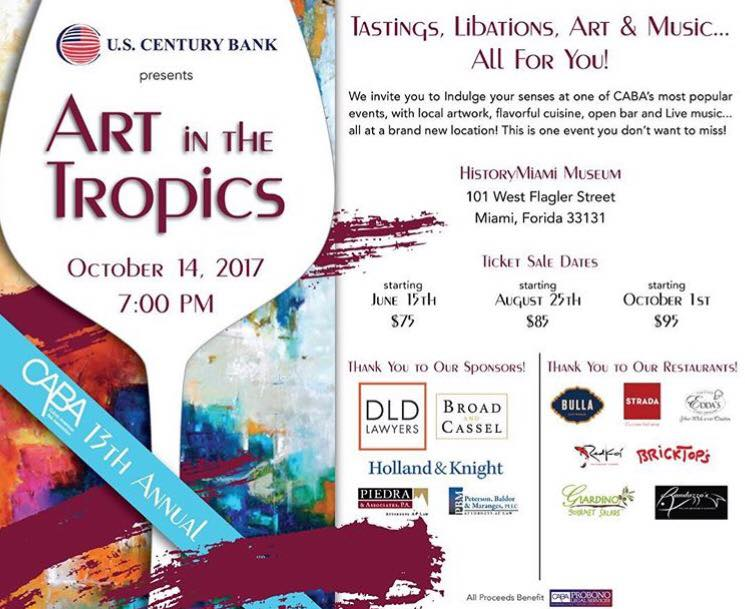 U.S. CENTURY BANK PRESENTS 13TH ANNUAL ART IN THE TROPICS